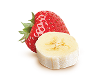 Enjoy DanActive yogurt flavoured with strawberry-banana.