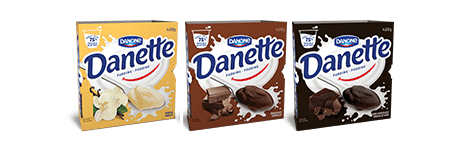 Danette comes in a pack of four.
