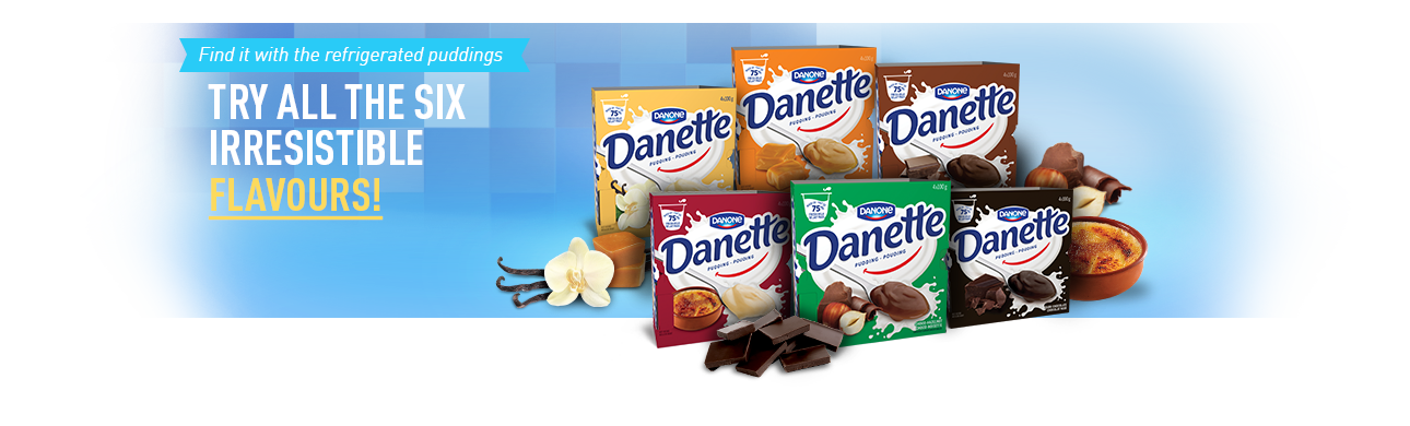 Danette -Try all 6 flavours
