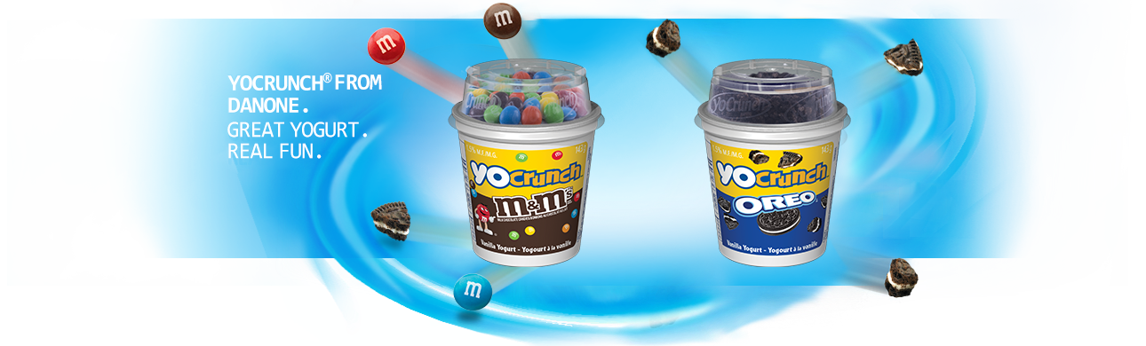 New ! YoCrunch® from Danone. Great Yogurt. Real Fun.